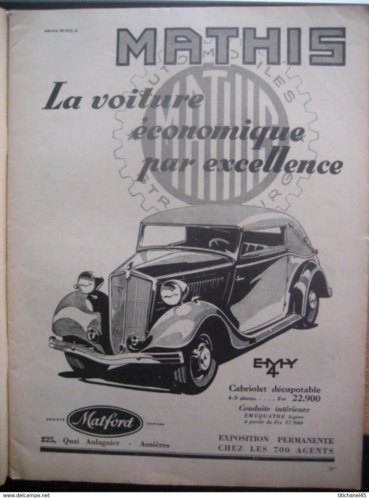 Revue LA VIE A LA CAMPAGNE Avril 1935 - Le Chateau De Beaumarchais (Indre-et-Loire) - Jardins De Nice... - Boeken, Tijdschriften, Stripverhalen