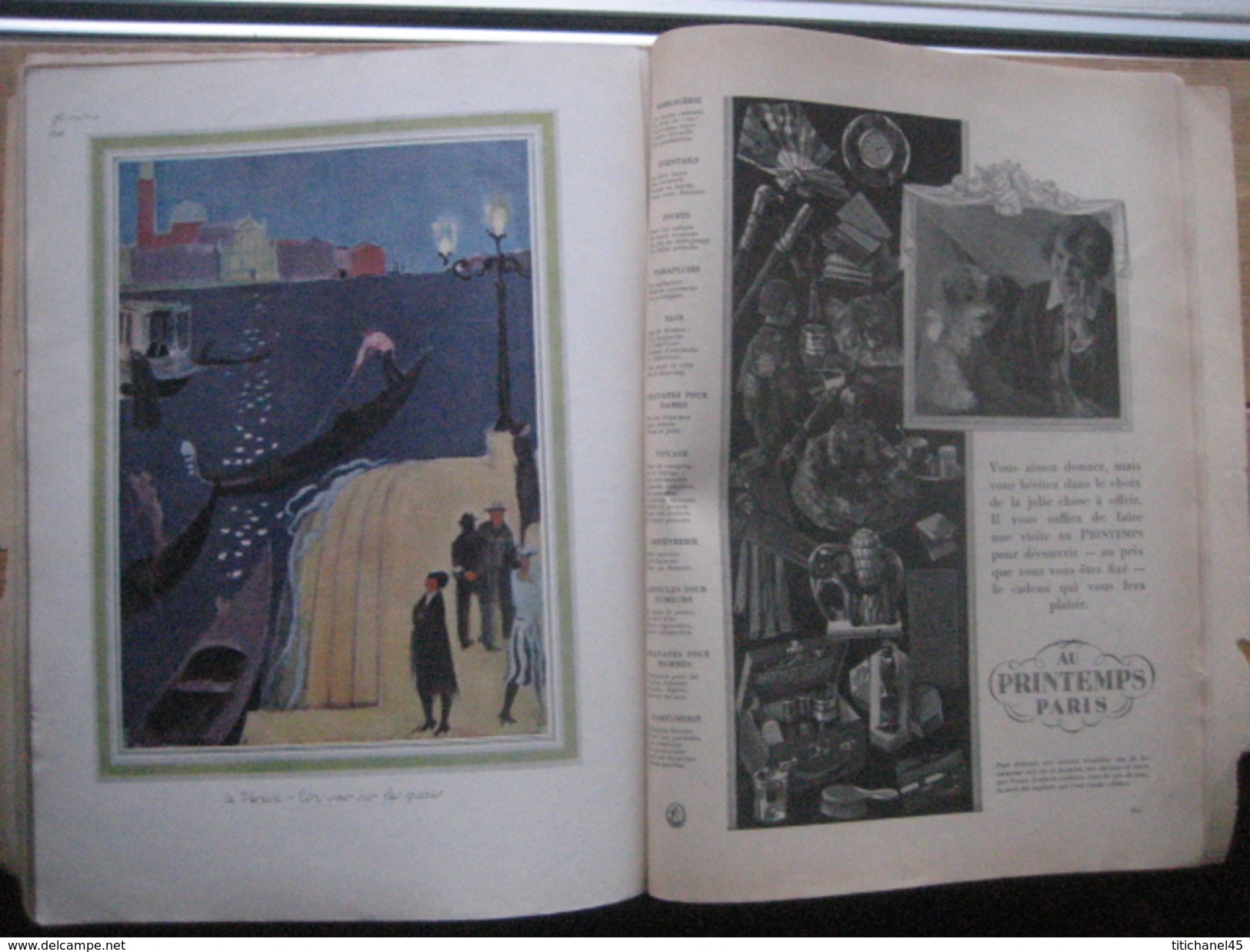 fashion vintage original magazine femina noel 1924 art. Black Bedroom Furniture Sets. Home Design Ideas