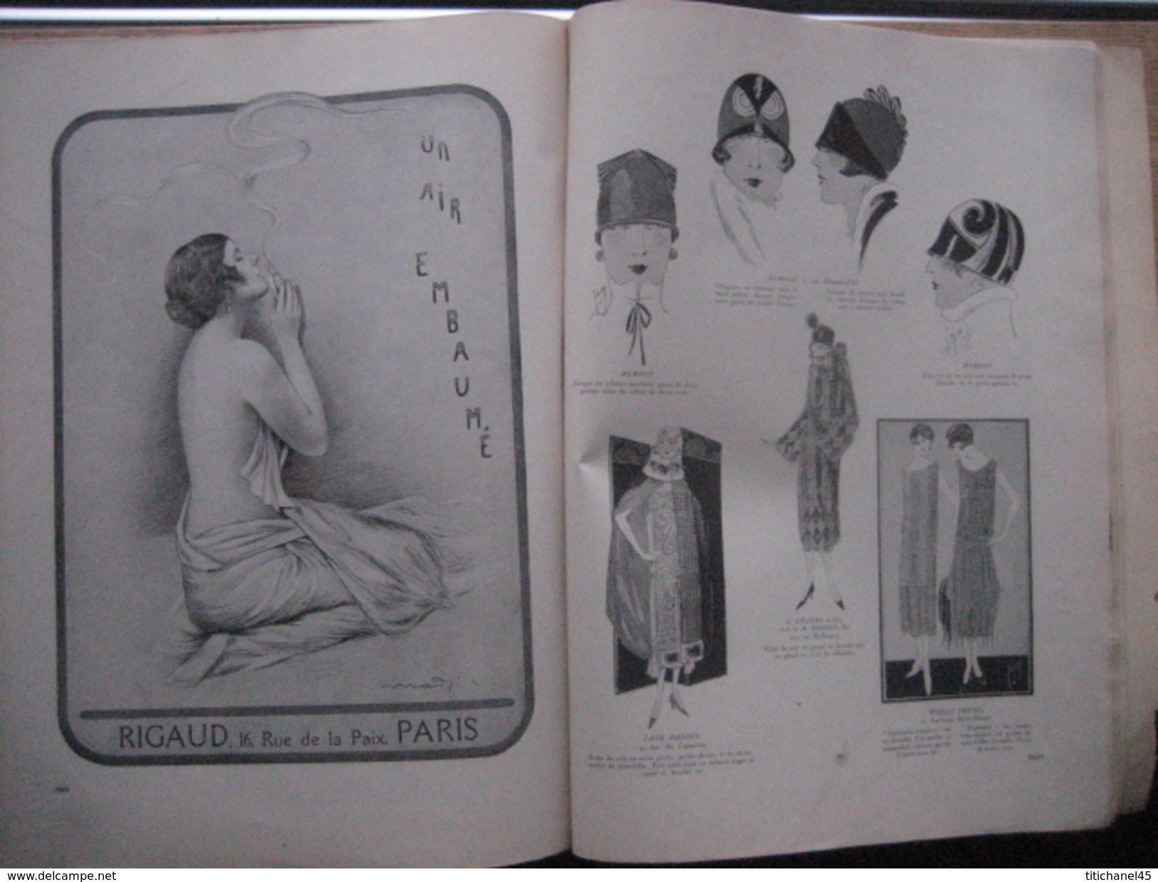 VINTAGE ORIGINAL MAGAZINE FEMINA NOEL 1924 - ART DECO - 156 Pages - Illustrateurs L. BENIGNI - G. BARBIER - A.E. MARTY - Mode