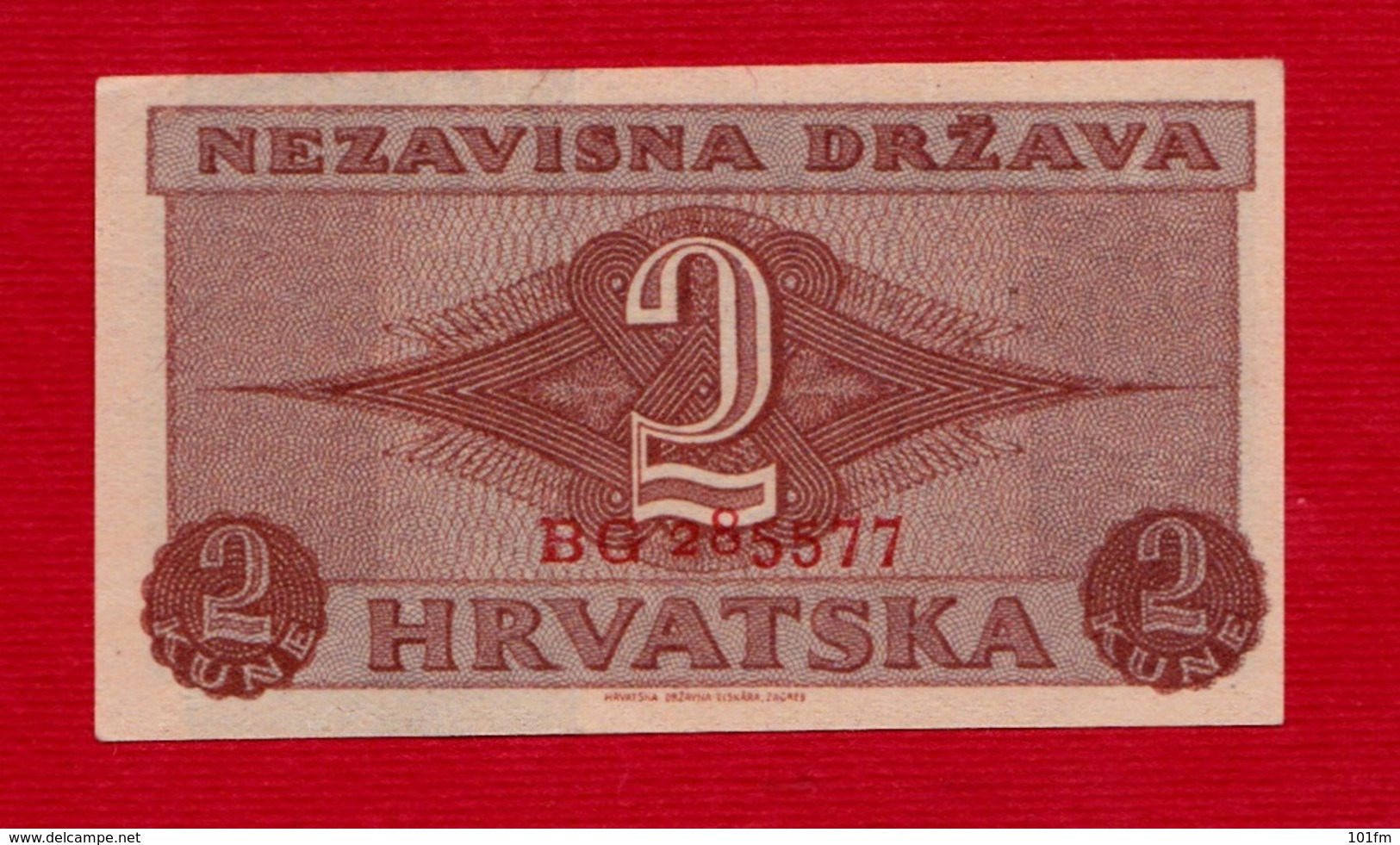CROATIA - HRVATSKA - 2 Kune NDH WW2 - Croatie