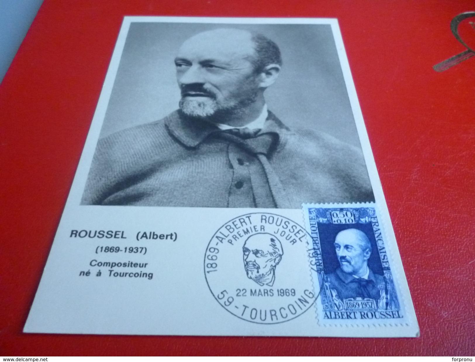 CARTE POSTALE  ALBERT ROUSSELCOMPOSITEUR NE A TOURCOING - Tourcoing