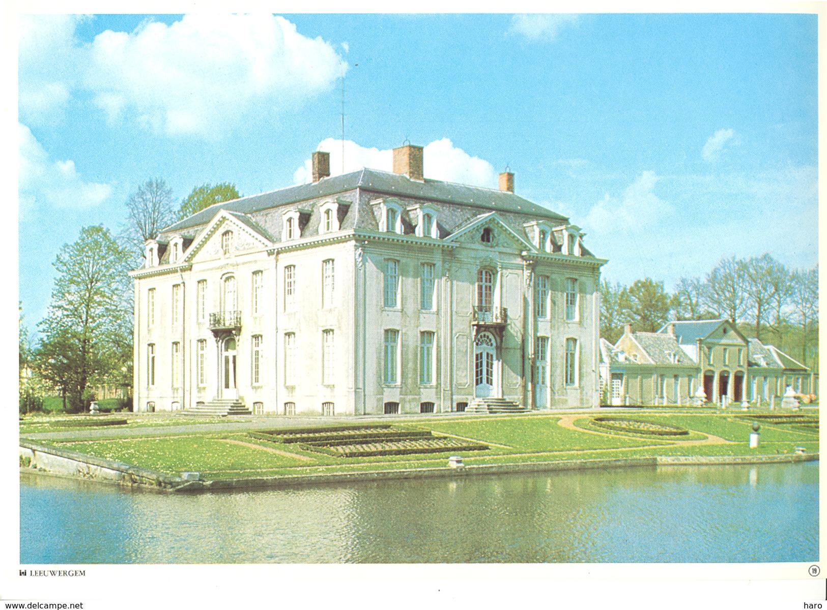 Photo ( Format A4) Du Château De LEEUWERGEM (Oudenaarde )- Fiche Didactique Au Verso - Edition ELF Carburant - Sammlungen