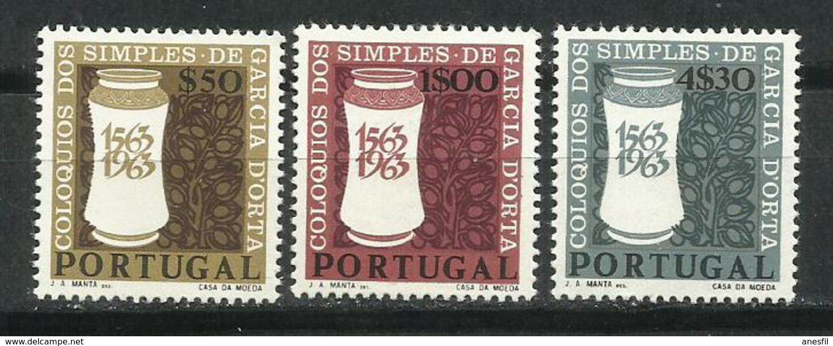 Portugal_1964_4º Centenario De Los Coloquios De Productos Naturales. - 1910-... República