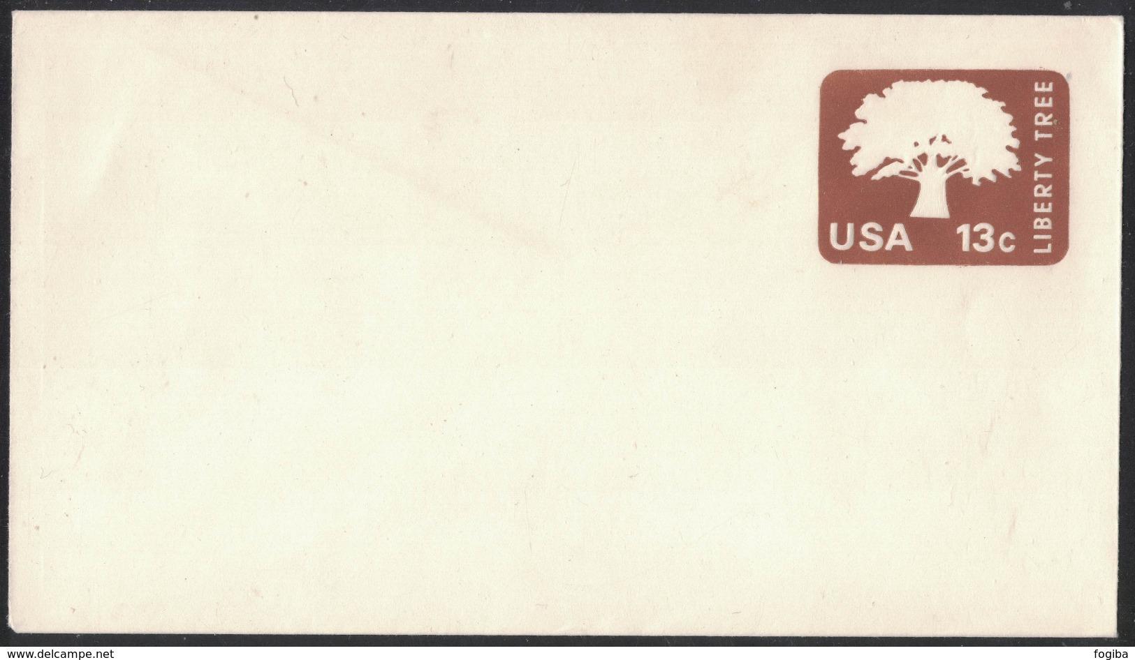 AZ383    USA 1976 - Liberty Tree 13c  Postcard Stationery - Interi Postali