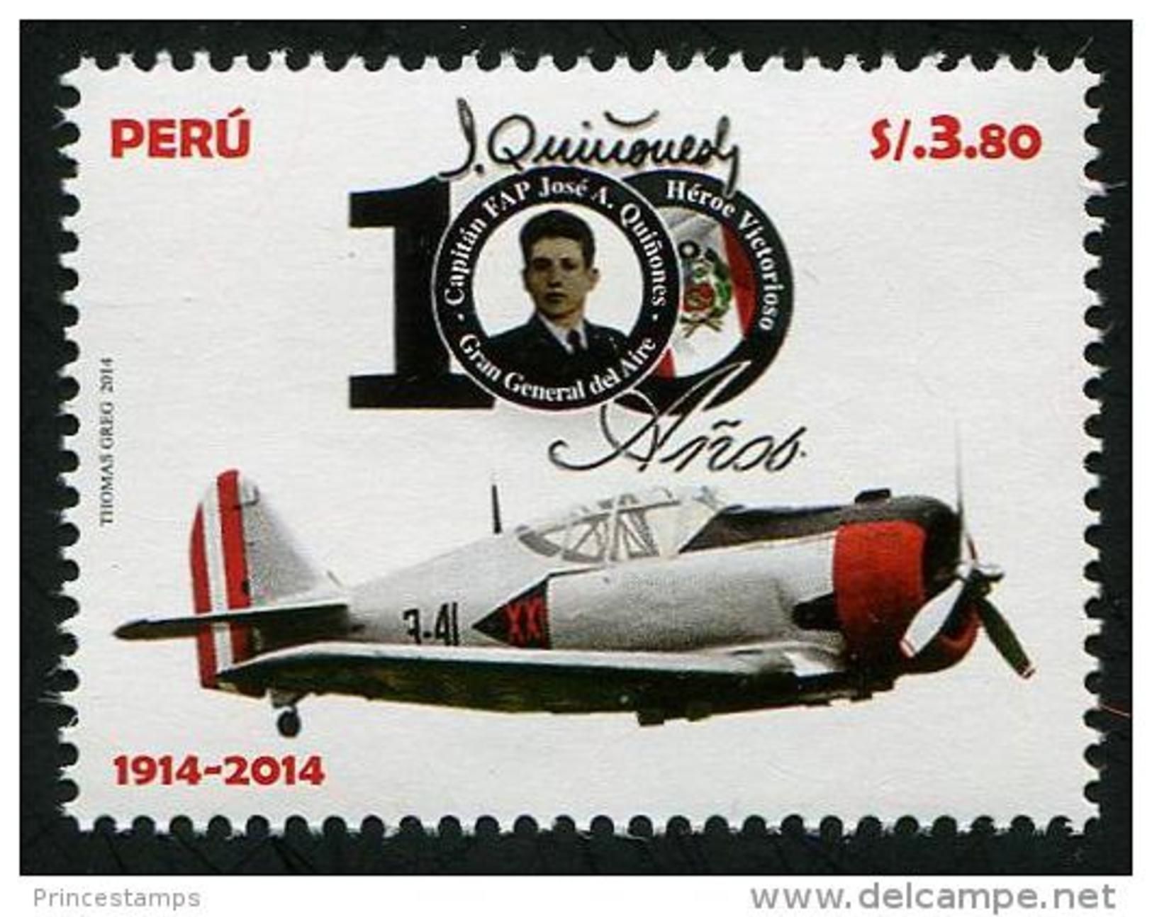 Peru (2014) - Set -   /  Airplane - Avion - Aircraft - J. Quinones - Aviones