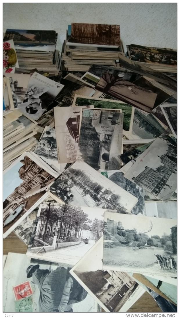 PLUS DE 7500  CPA  90% De Vieilles Cartes 90% Plus De 70 Ans Paysages Et Villes - 500 Karten Min.