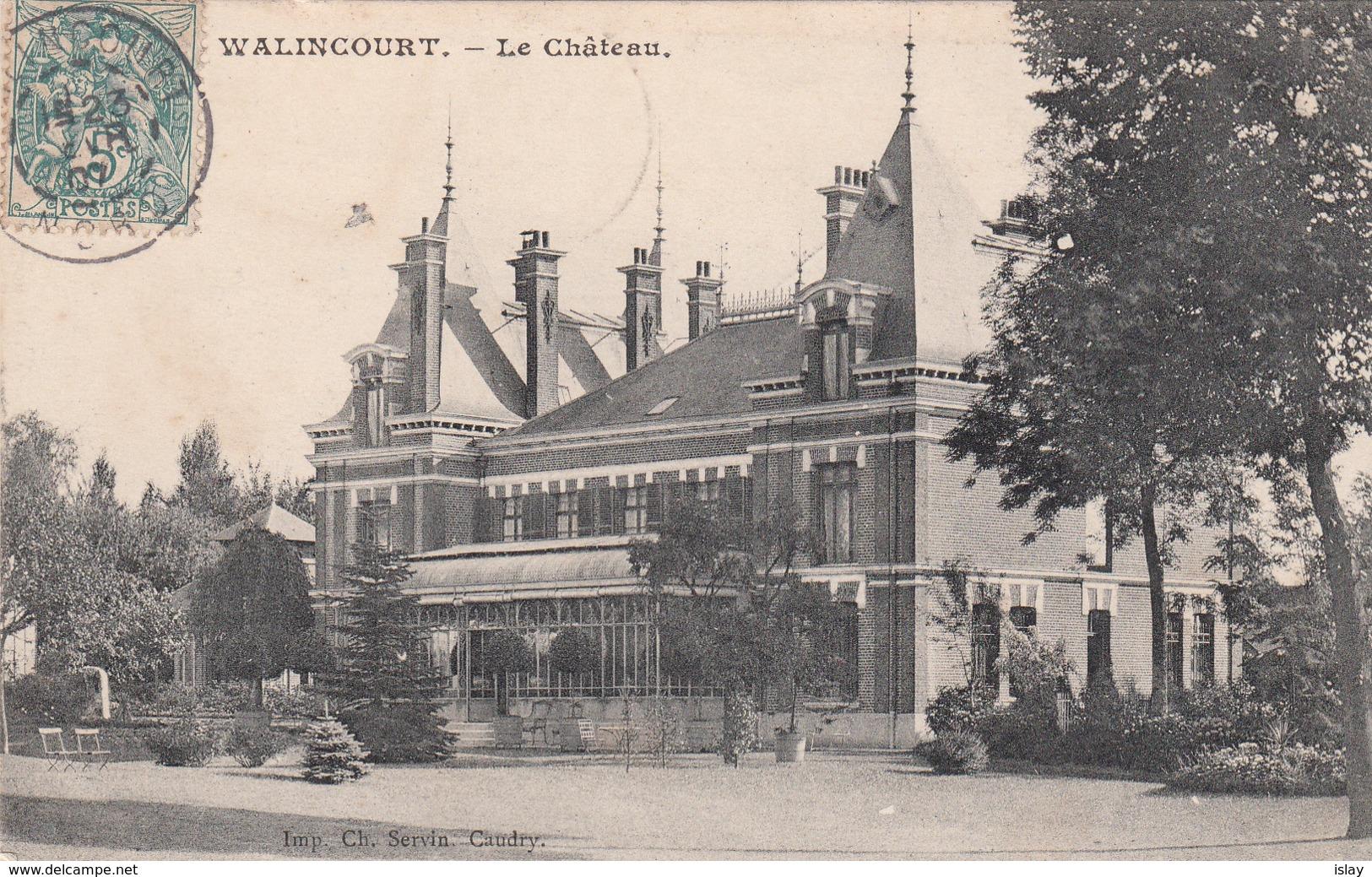 59 - WALINCOURT - Le Château - Francia