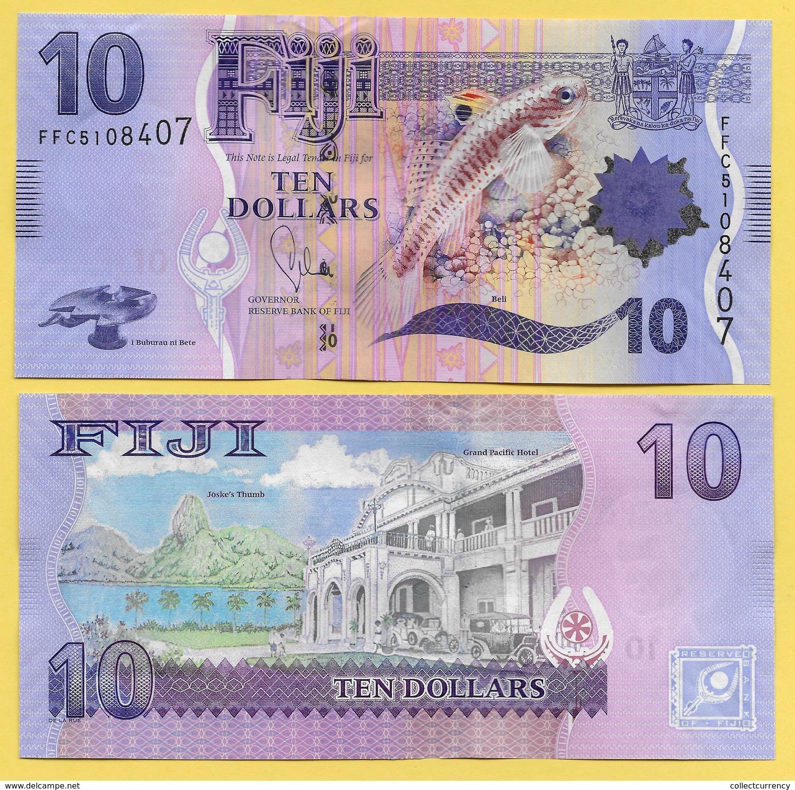 Fiji 10 Dollars P-116 2012 UNC - Fidji