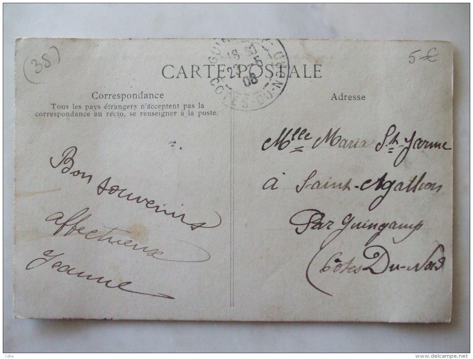 """13032017-  35 -   SAINT MALO   -  LE PAQUEBOT TRANSATLANTIQUE """" LOUISIANE """" PARTANT POUR TERRE-NEUVE  -  8 MARS 1908 - Saint Malo"""
