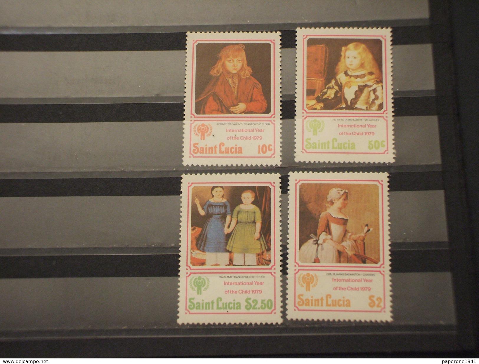 ST. LUCIA - 1979 QUADRI INFANZIA  4 VALORI -NUOVO(++) - St.Lucia (1979-...)