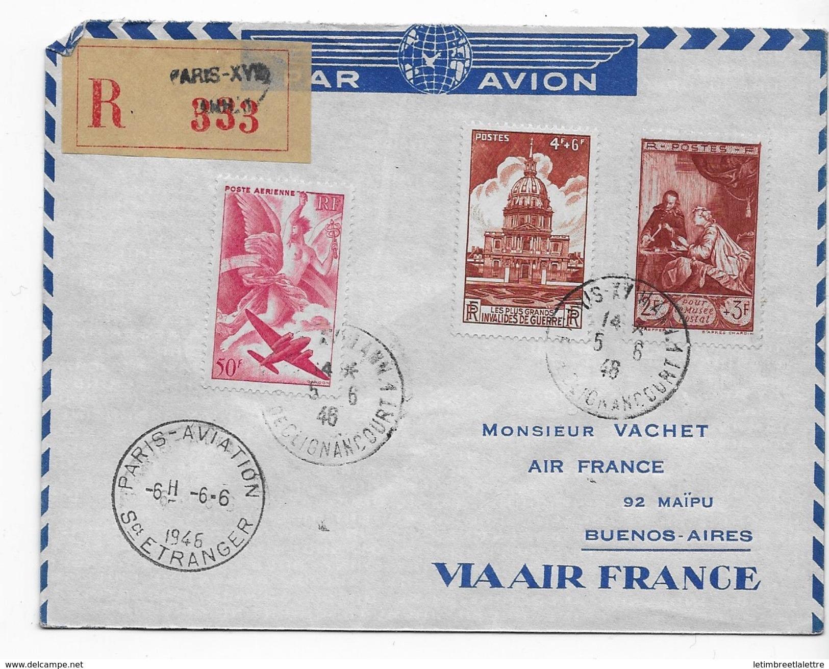 Premier Service Rapide Paris Le Caire, Air France - Poste Aérienne