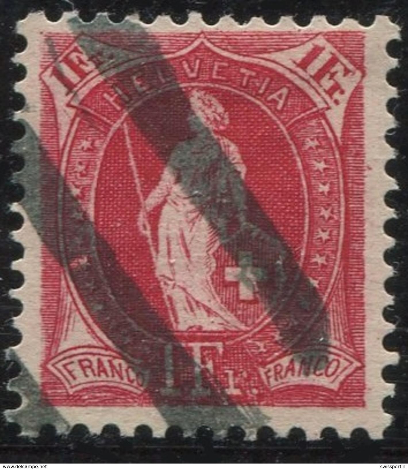 1614 - 1 Fr. Stehende Helvetia Mit Zollstempel - Oblitérés