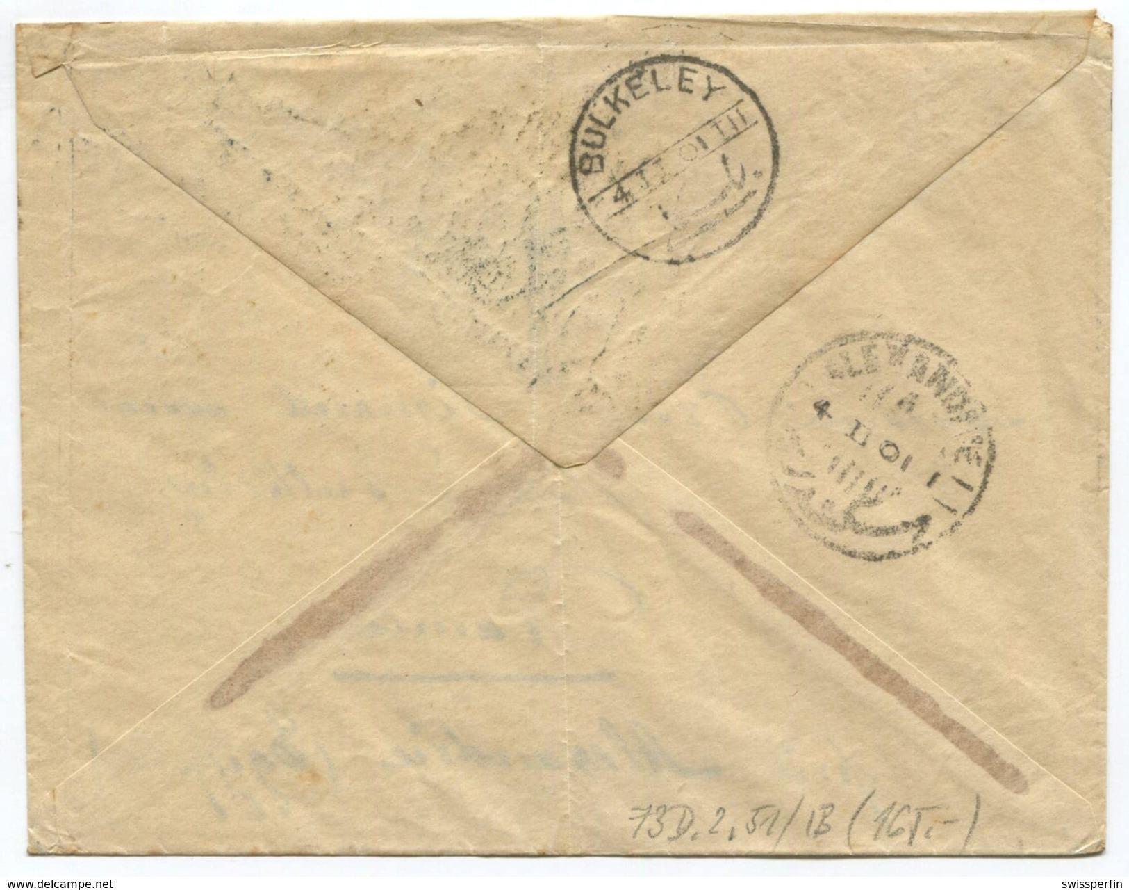 1624 -  25 Rp. Stehende Helvtia Brief Von GENÈVE Nach ÄGYPTEN 1901 Mit ABART Plattenabnützung - Lettres & Documents