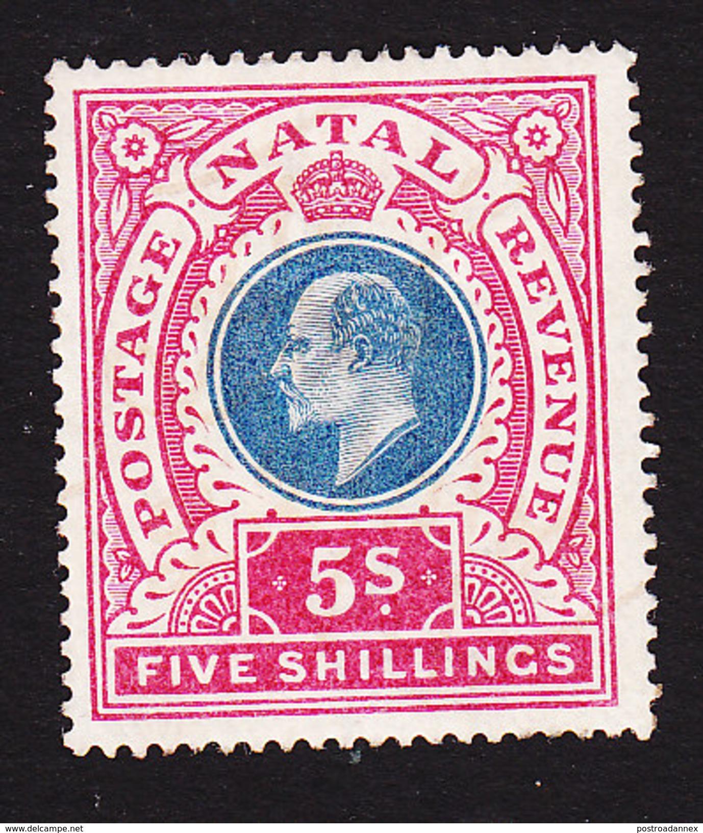 Natal, Scott #94, Mint Hinged, King Edward VII, Issued 1902 - Afrique Du Sud (...-1961)