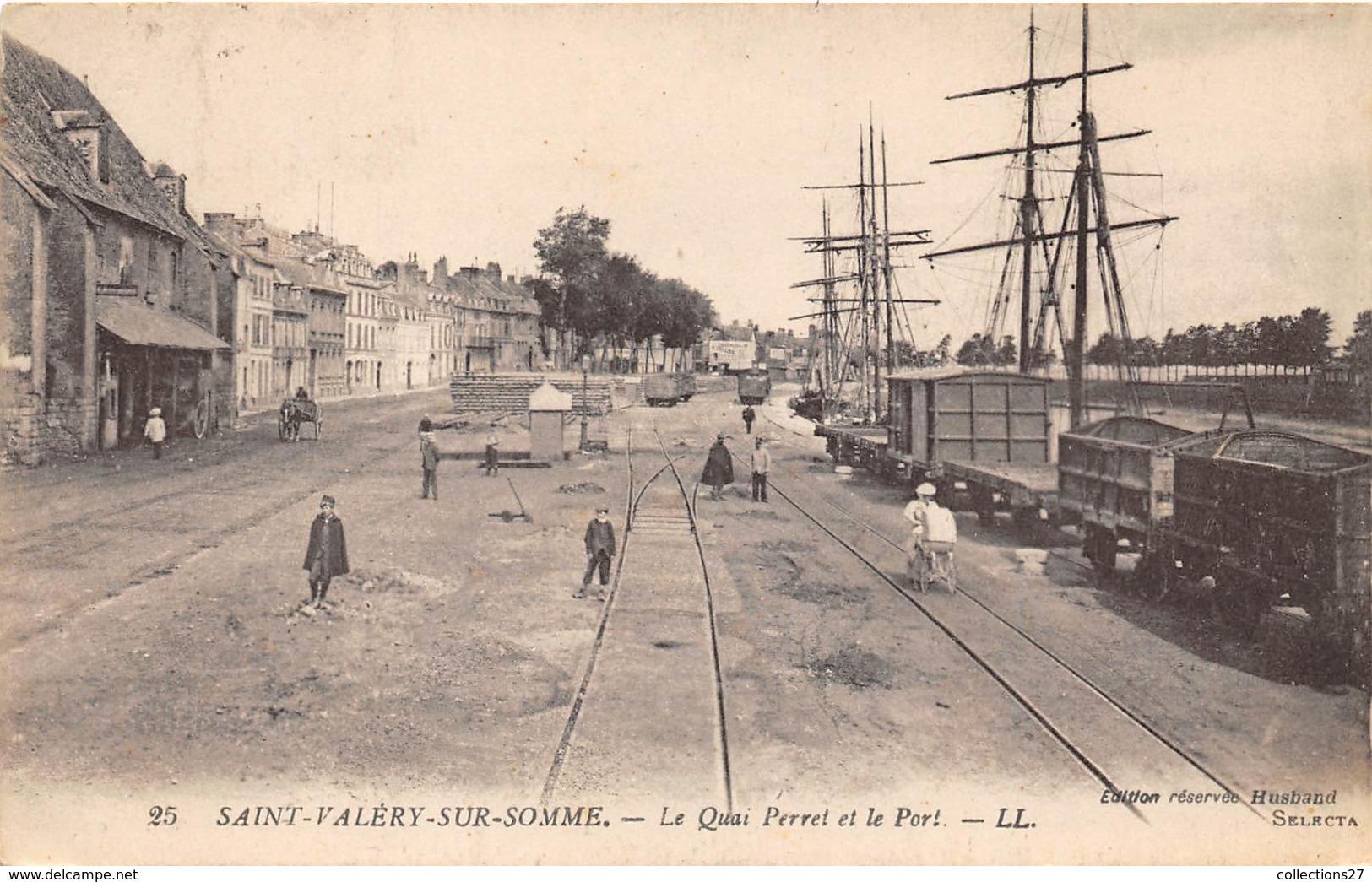 80-SAINT-VALERY-SUR-SOMME-  LE QUAI PERRET ET LE PORT - Saint Valery Sur Somme