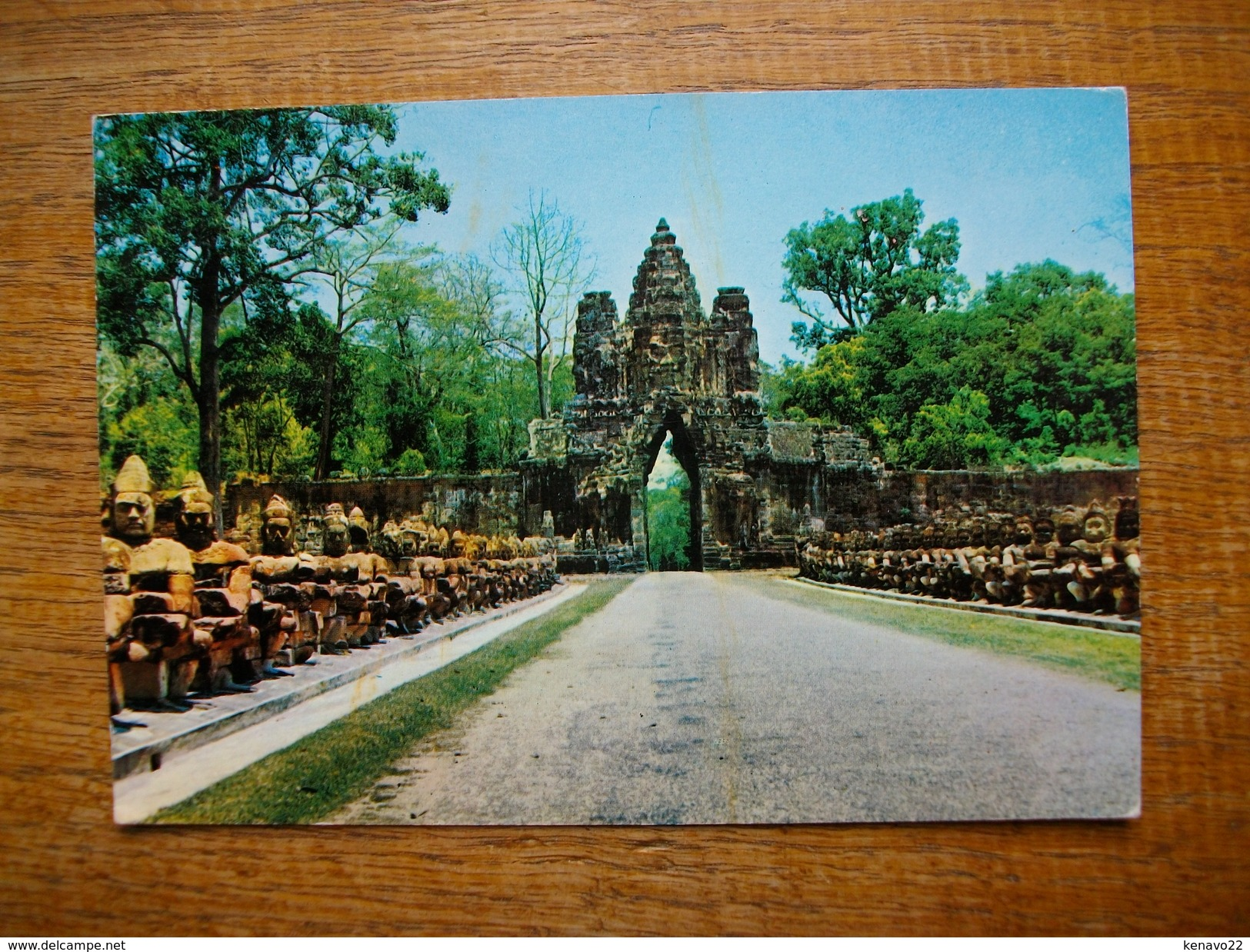 Cambodge , Siemreap , Gopura Sud D'angkor Thom - Cambodia