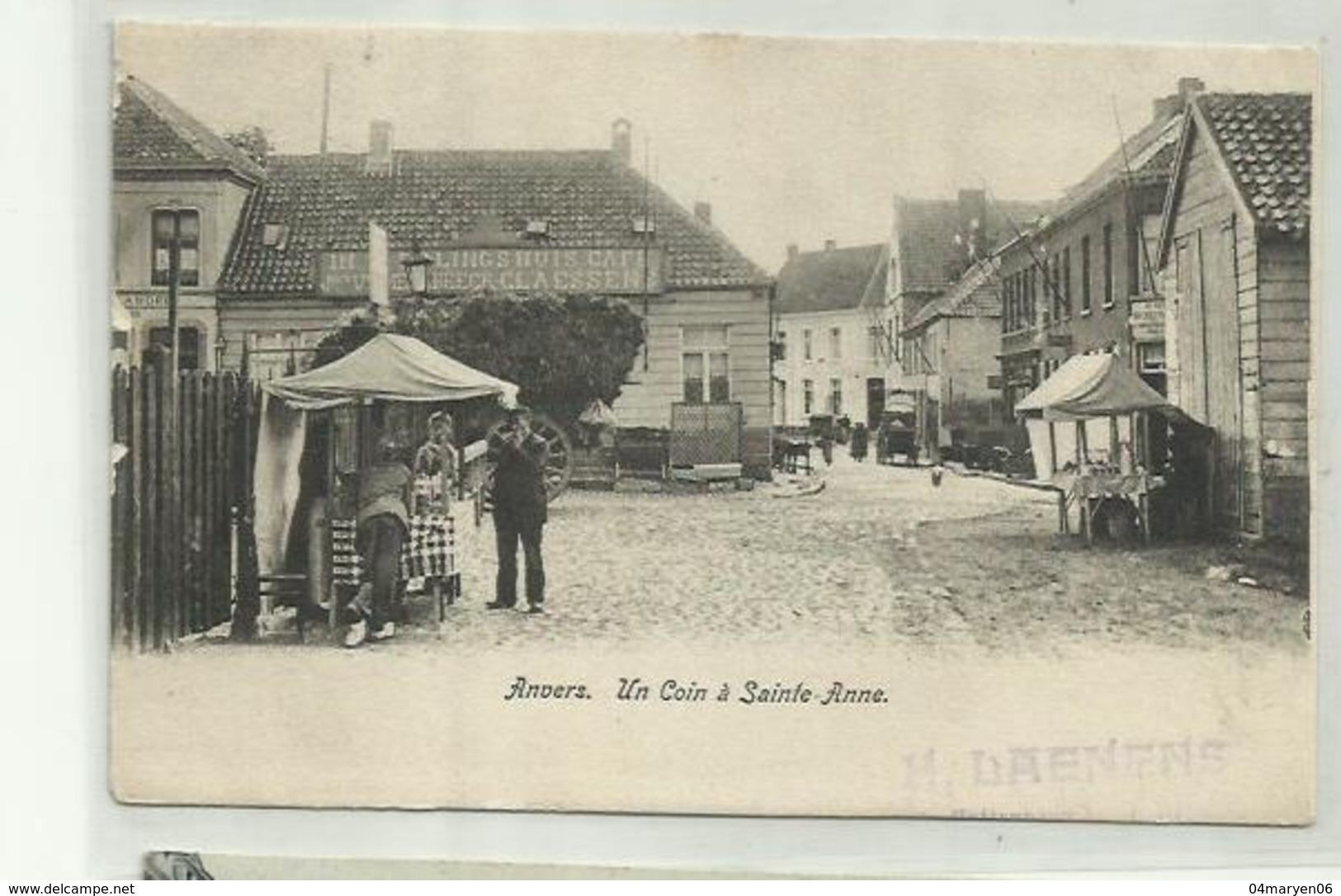 -  **ANVERS-- Un  Coin à Sainte-Anne .** - Antwerpen
