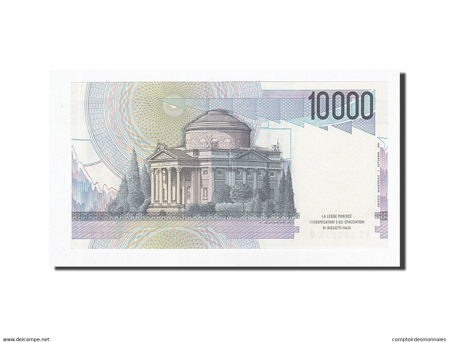 Italie, 10,000 Lire, KM:112b, 1984-09-03, NEUF - [ 2] 1946-… : Repubblica