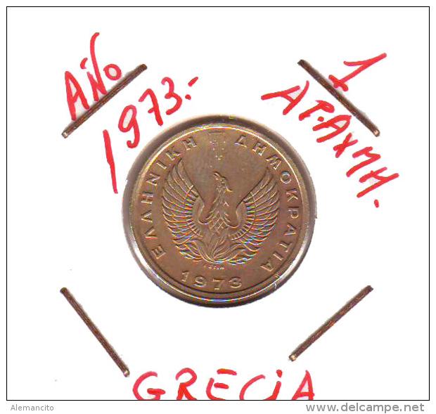 GRECIA  -  GREECE -  MONEDA DE  1  DRACHMA   AÑO 1973  -   Nickel-Brass, 21 Mm. - Grecia