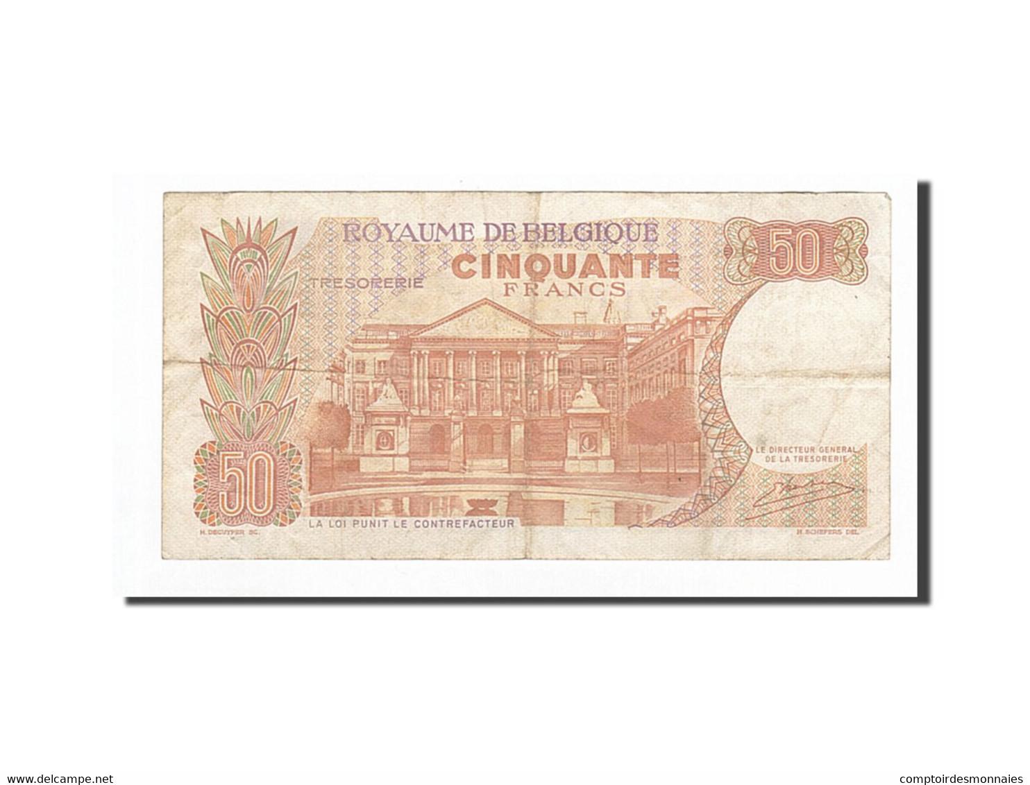 Belgique, 50 Francs, KM:139, 1966-05-16, TTB - [ 6] Staatskas
