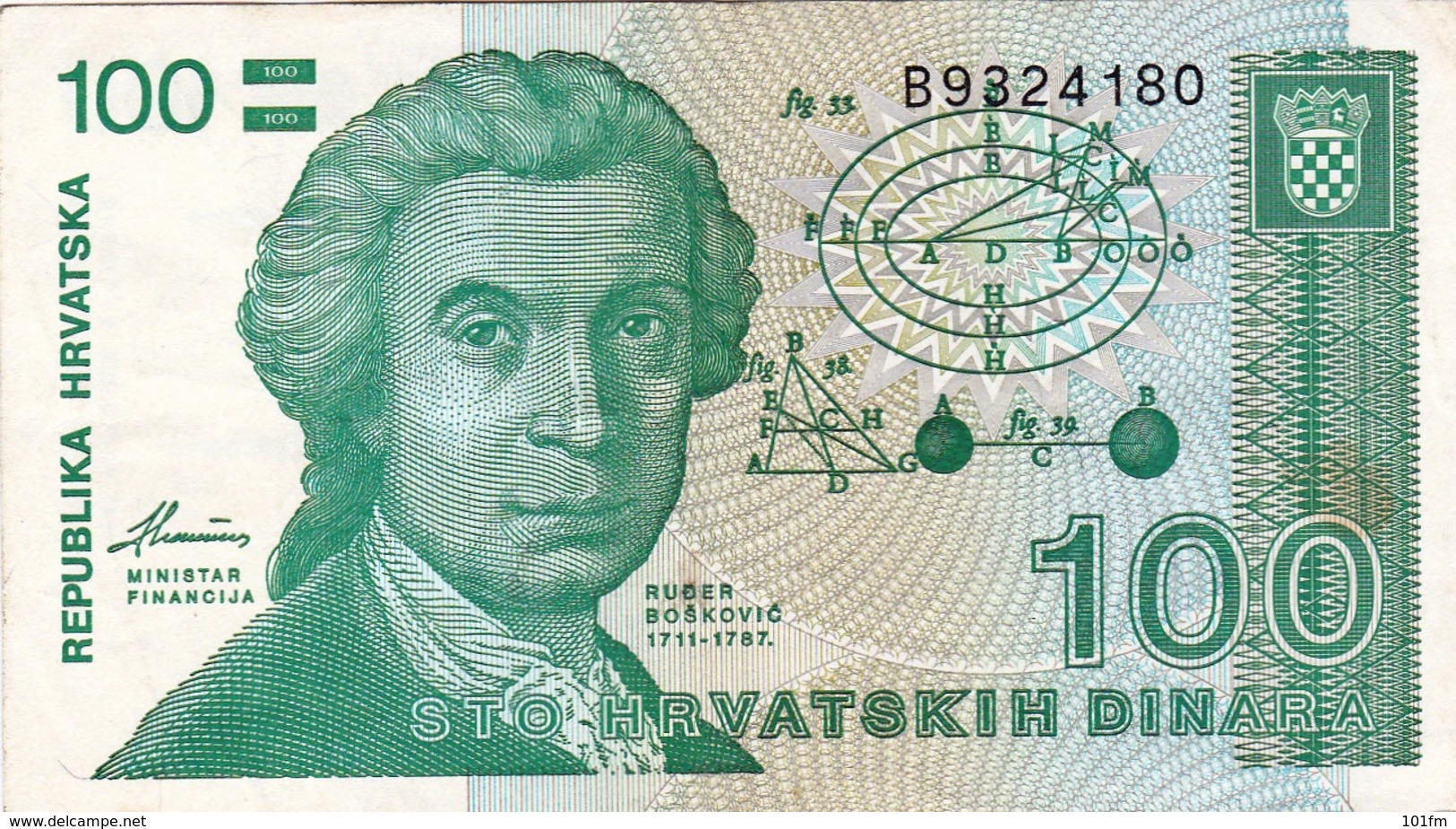 CROATIA - HRVATSKA -  100 Dinara - Croatie