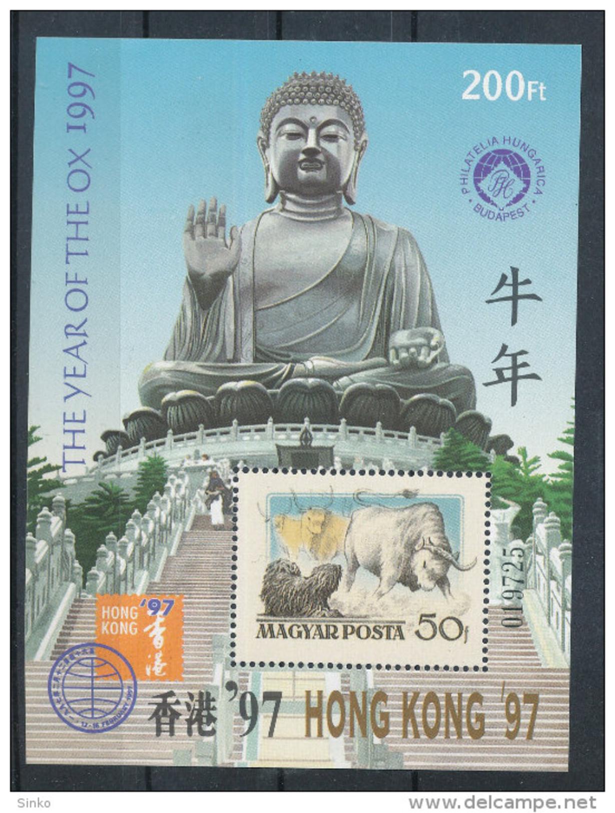 1997. Hong Kong - XI. Asian International Stamp Exhibition - Commemorative Sheet :) - Feuillets Souvenir