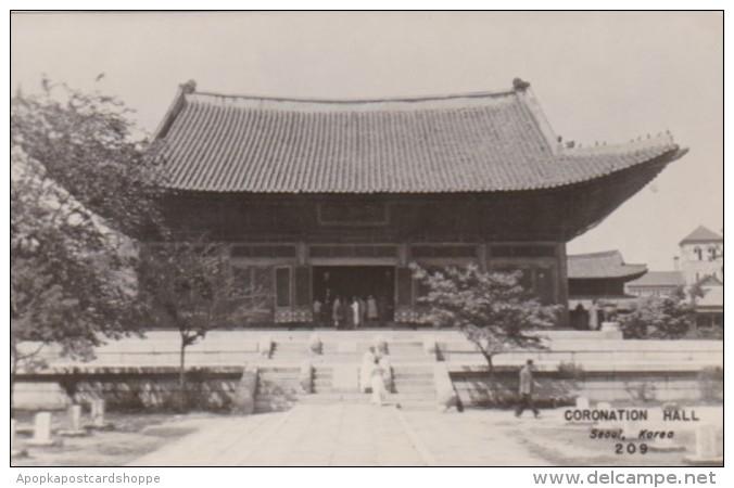 Korea Seoul The Coronation Hall Real Photo - Korea, South