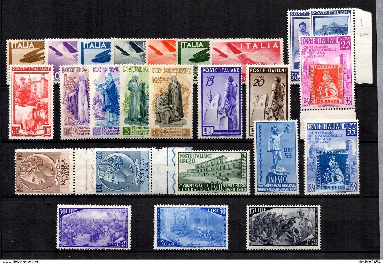 Italie Petite Collection Neufs **/* 1945/1957. Bonnes Valeurs. B/TB. A Saisir! - 6. 1946-.. Republik