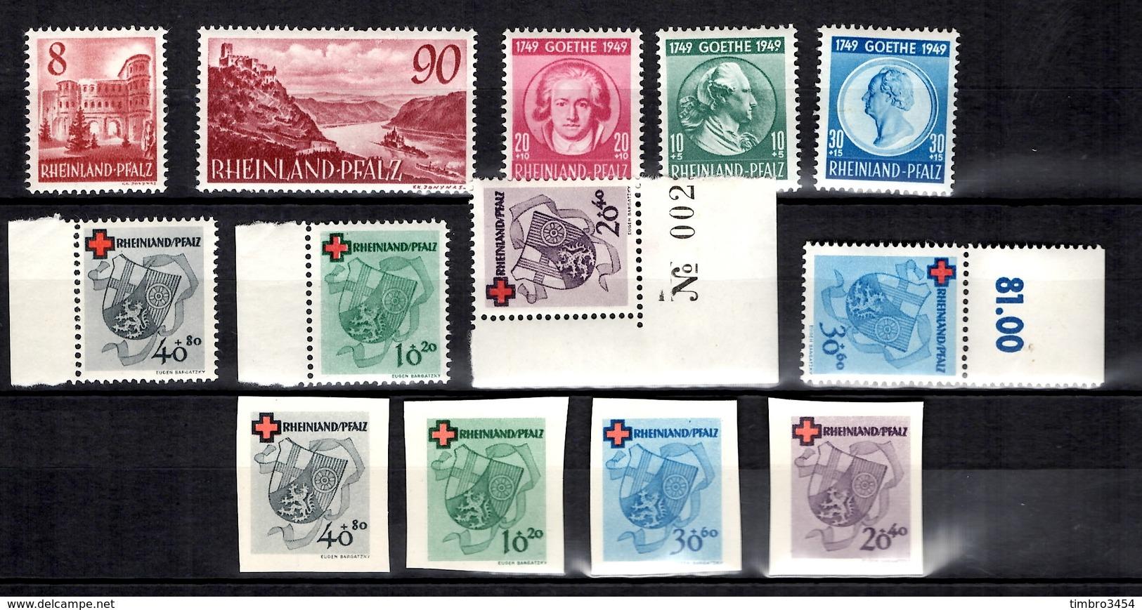 Allemagne/ZOF/Rhénanie Petite Collection Neufs ** MNH. Bonnes Valeurs. TB. A Saisir! - Französische Zone