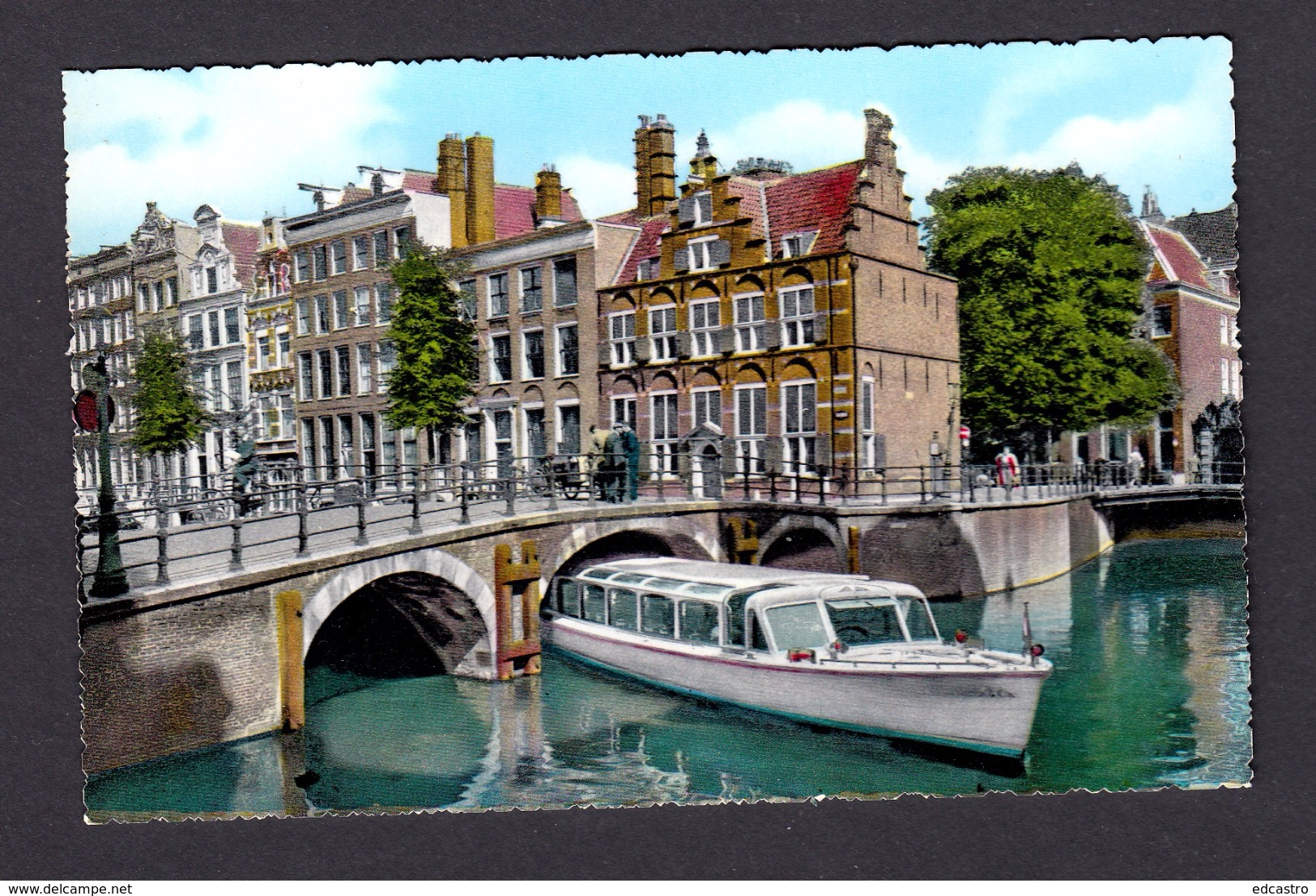 NETHERLAND HOLLAND POSTCARD AMSTERDAM VOORBURGWAL WITH HOUSE ON THE THREE CANALS - Amsterdam