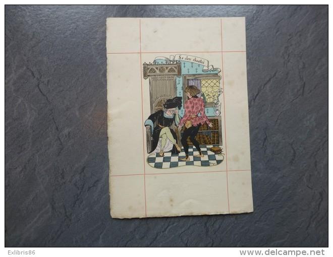 BALZAC La Pucelle De Thilouze Carrington 1901 L. Lebègue, Le Clerc Chastré ; Ref 607 G 11 - Prints & Engravings
