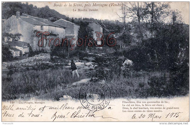 (85) Bords De La Sèvre Près Mortagne - Le Moulin Daudet - 2 SCANS - Other Municipalities