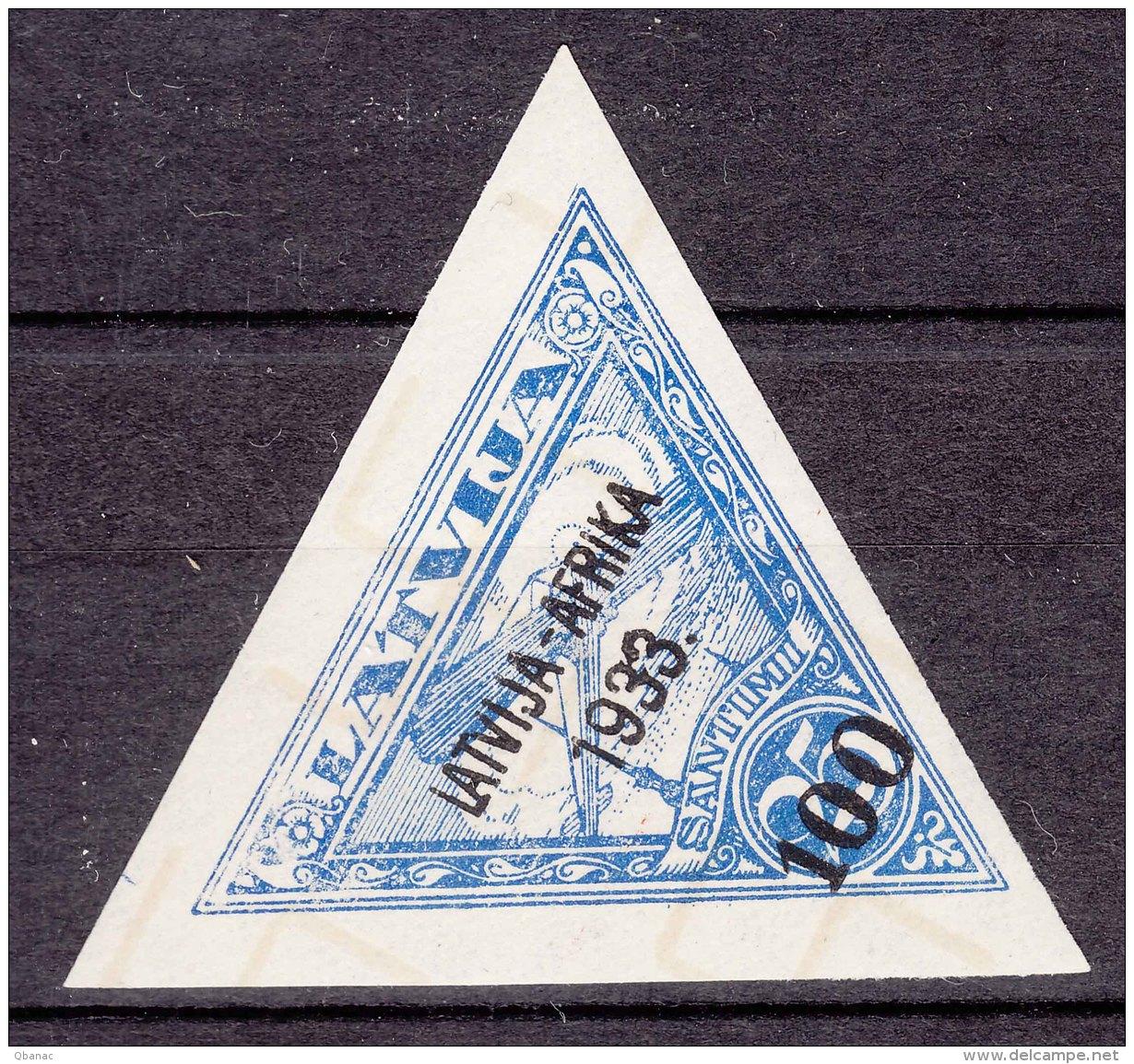Latvia Lettland 1933 Airmail Mi#224 Mint (lightly) Hinged - Lettonie