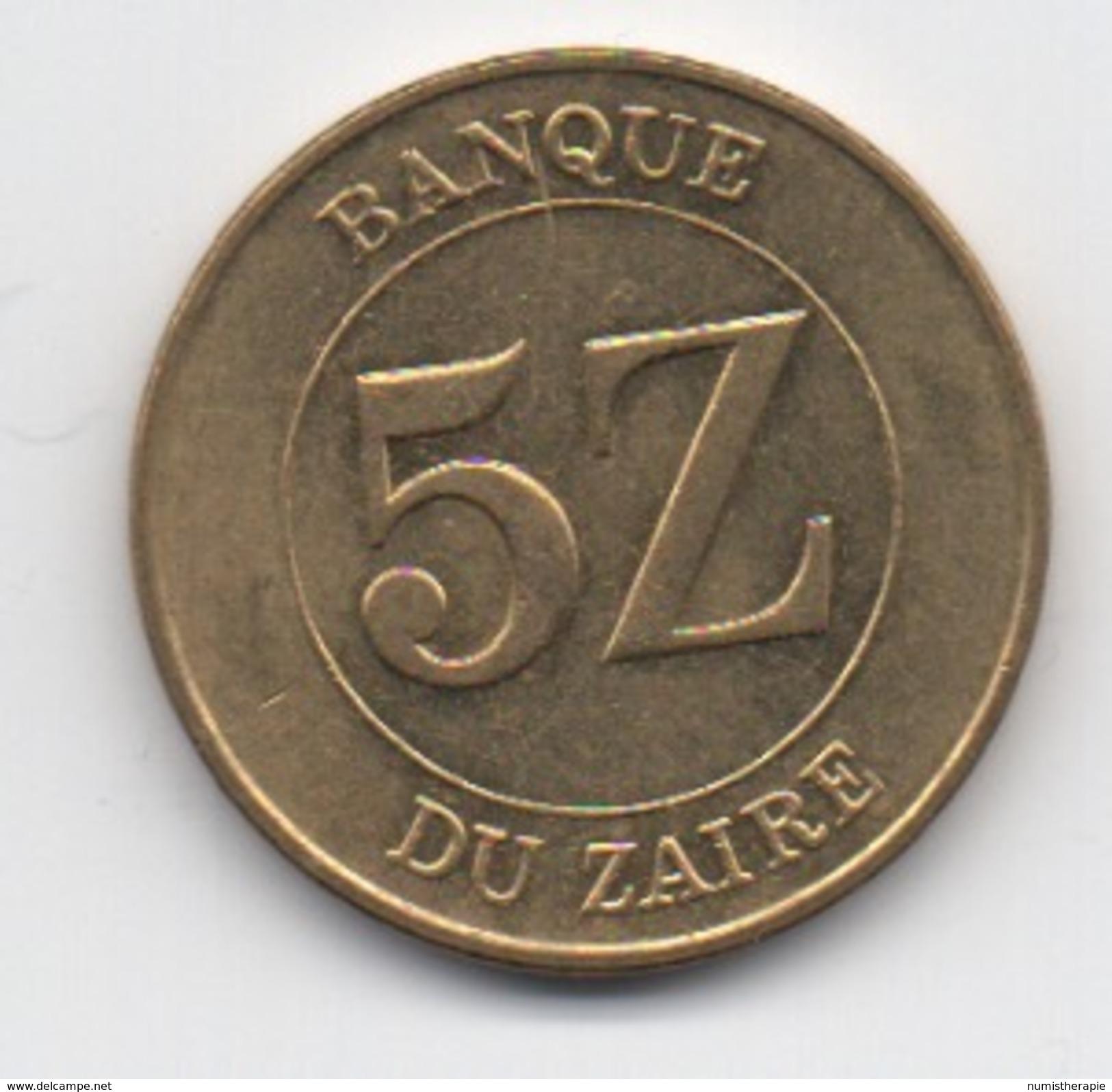 Zaïre : 5 Zaires 1987 (Diamètre 24 Mm) - Zaire (1971-97)