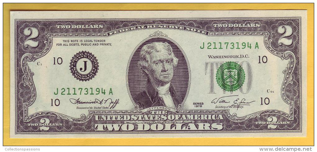 USA - Billet De 2 Dollars. 1976. Pick: 461. NEUF - Federal Reserve Notes (1928-...)