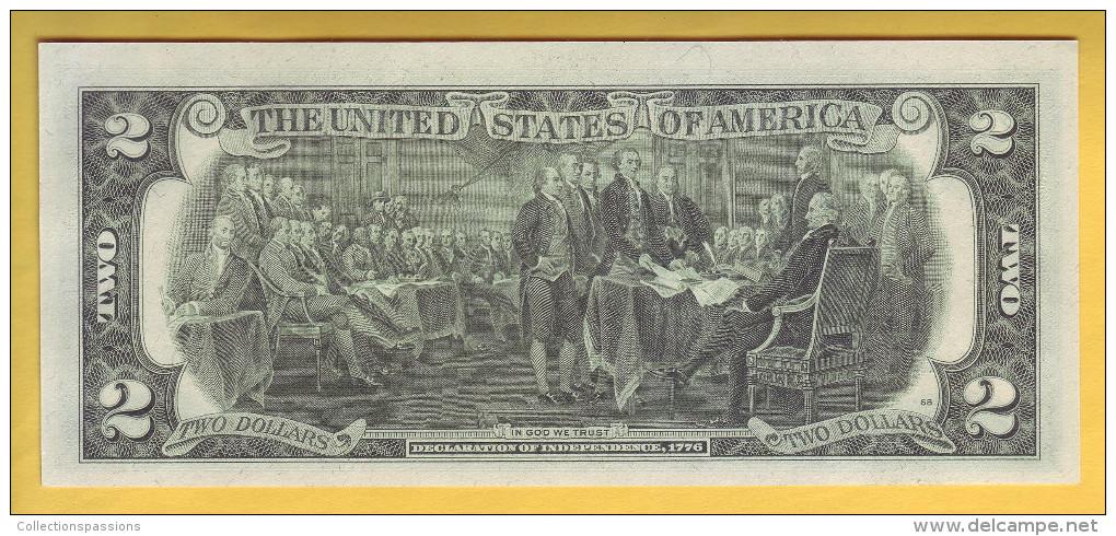 USA - Billet De 2 Dollars. 1976. Pick: 461. NEUF - Bilglietti Della Riserva Federale (1928-...)