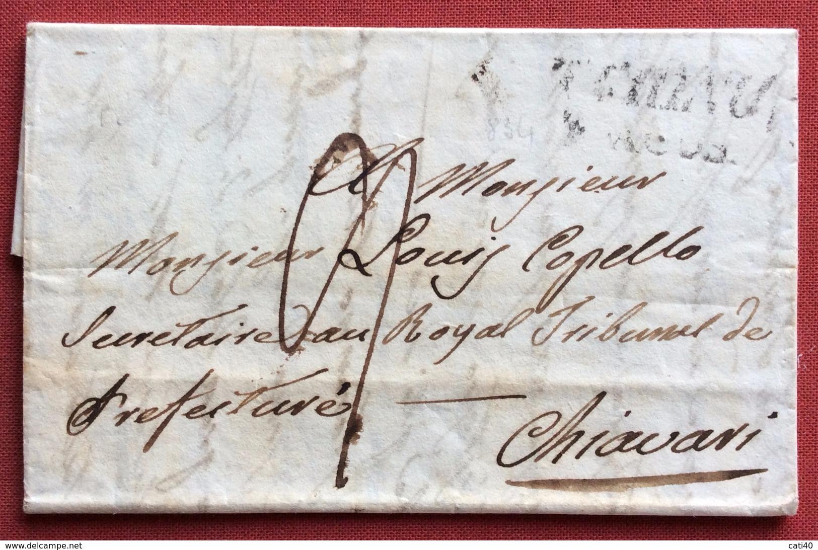 TORINO + TASSA SU  LETTERA COMPLETA DI TESTO PER CHIAVARI  IN DATA 8/8/34 - ...-1850 Préphilatélie