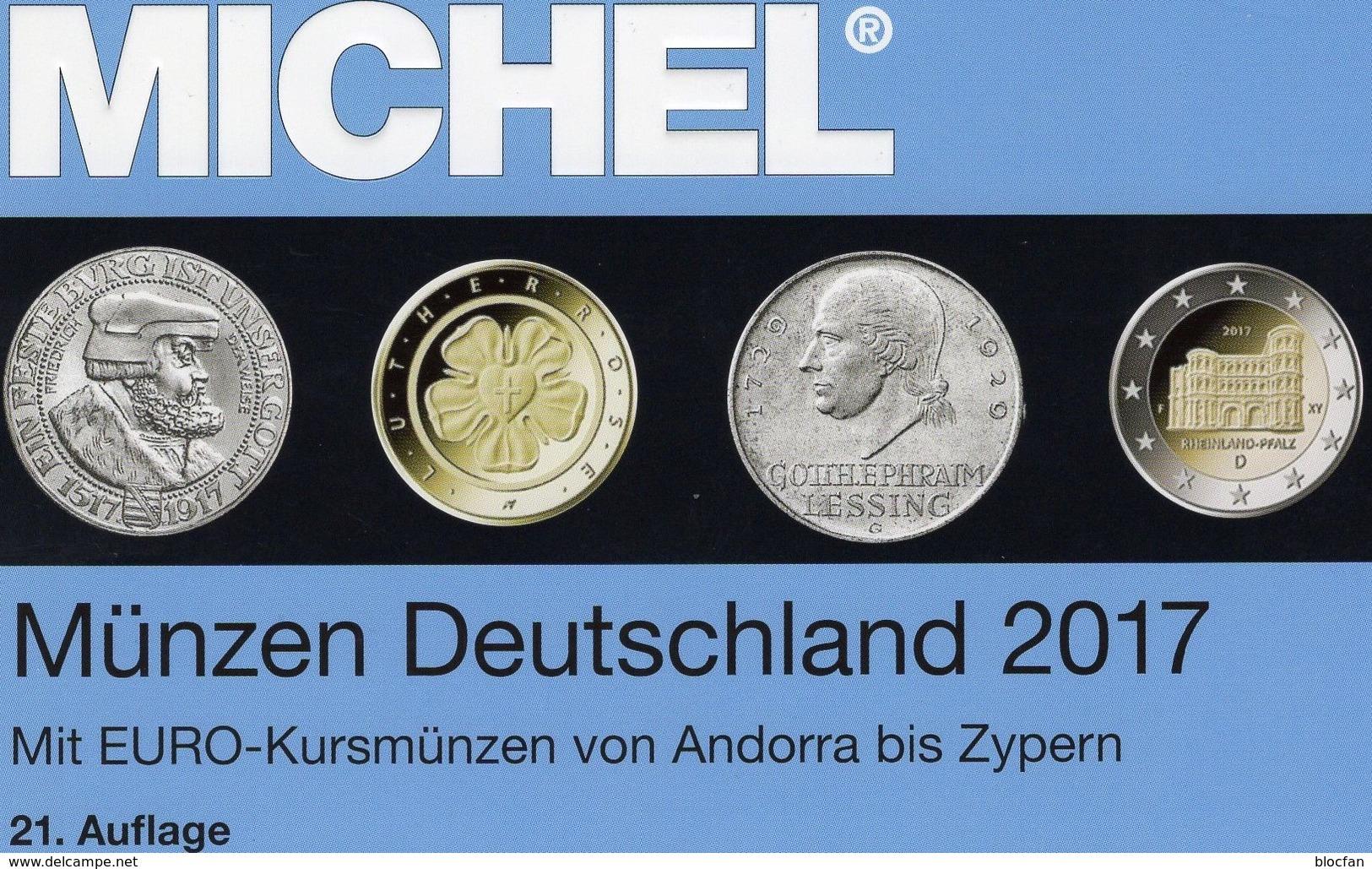MICHEL Münzen Ab 1871 Deutschland/EU 2017 New 29€ D DR 3.Reich BRD DDR Numismatik Coins Catalogue 978-3-95402-193-2 - Cuivres