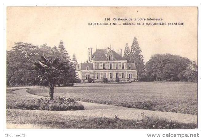 (44) 534, Haute-Goulaine, Chapeau 936, Château De La Haudinière Nord Est - Haute-Goulaine