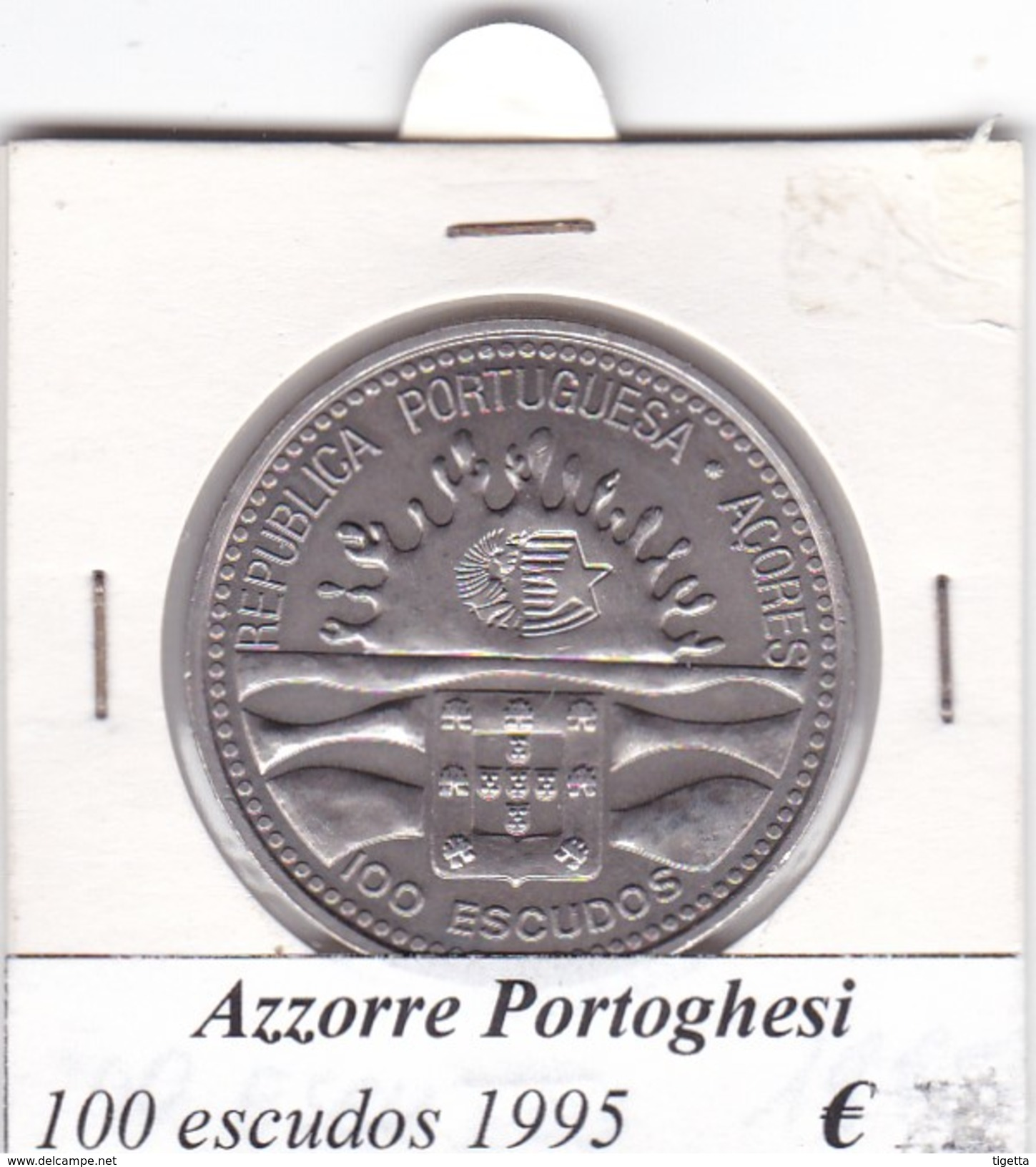 AZZORRE PORTOGHESI   100 ESCUDOS  1995  COME DA FOTO - Açores