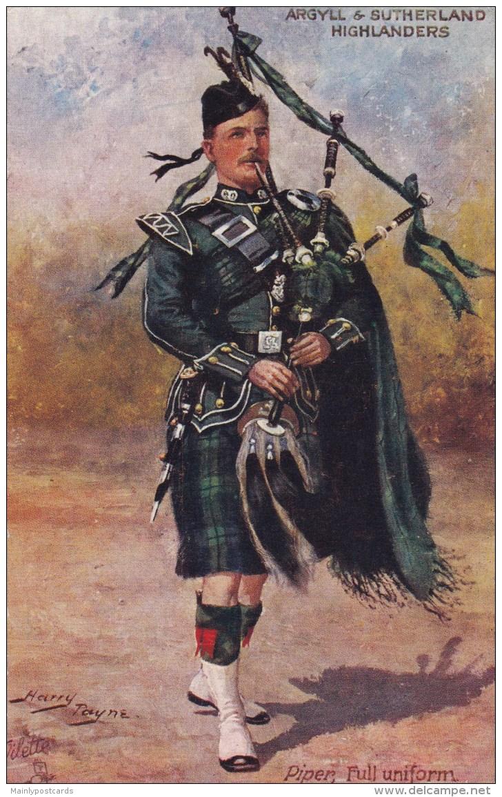 AN12 Harry Payne, Argyll & Sutherland Highlanders, Piper Full Uniform - Illustrators & Photographers