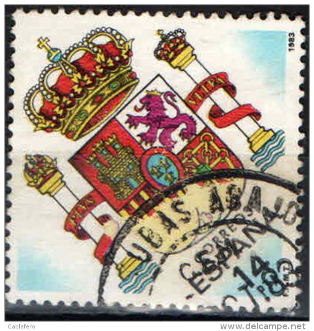SPAGNA - 1983 - STEMMA DELLA SPAGNA - USATO - 1981-90 Oblitérés
