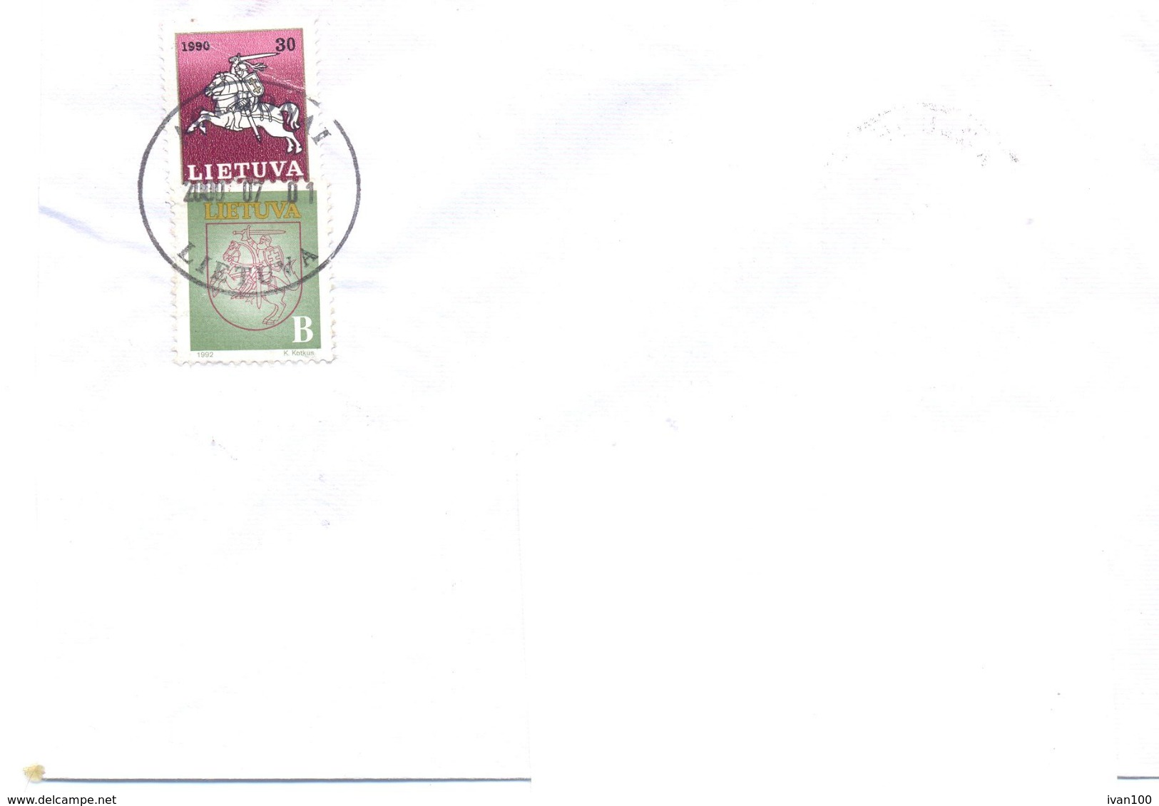 2000. Lithuania, The Letter Sent By Ordinary Post To Moldova - Lithuania