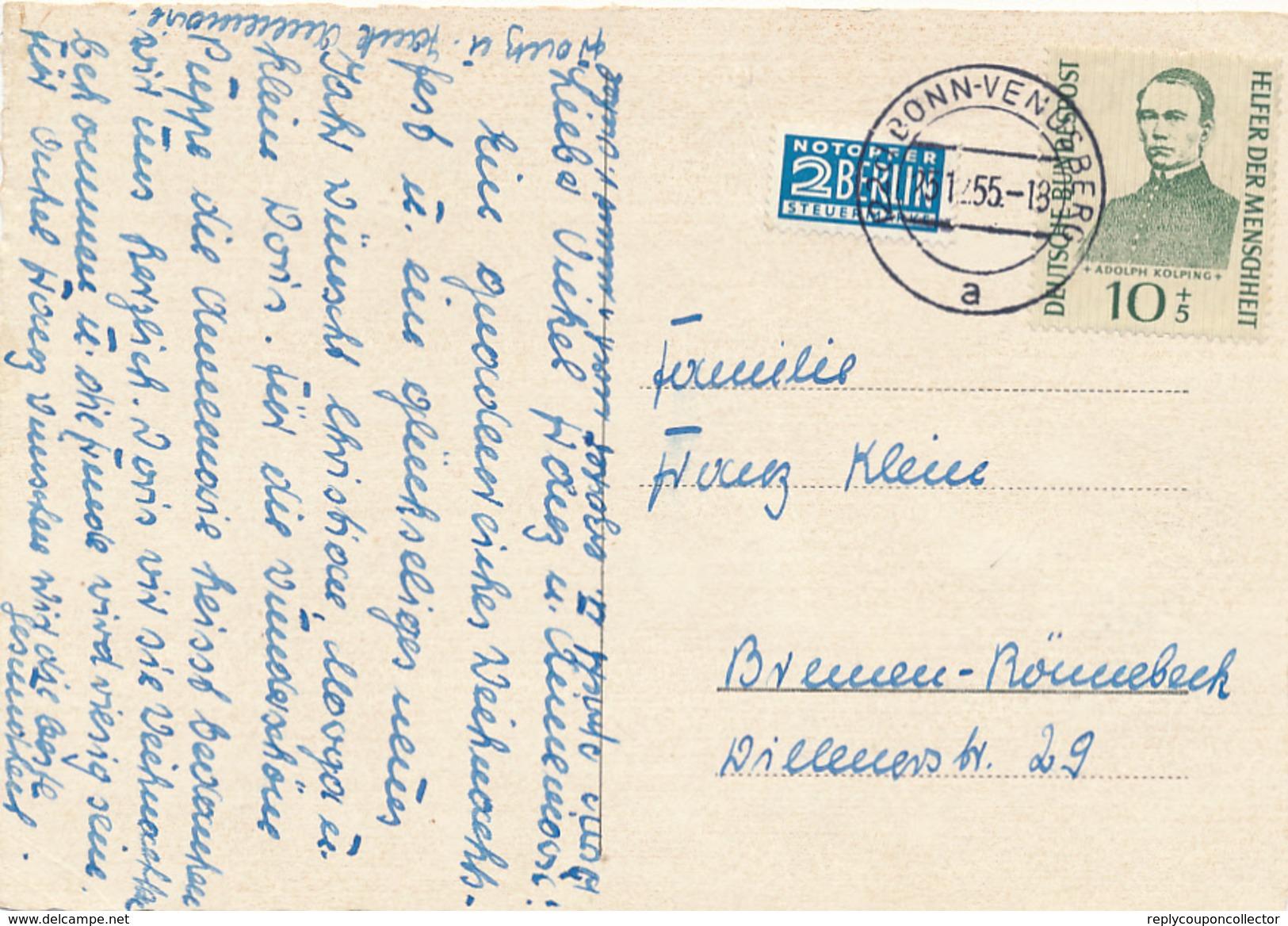 BONN-VENUSBERG - 1955 , Adolf Kolping - BRD