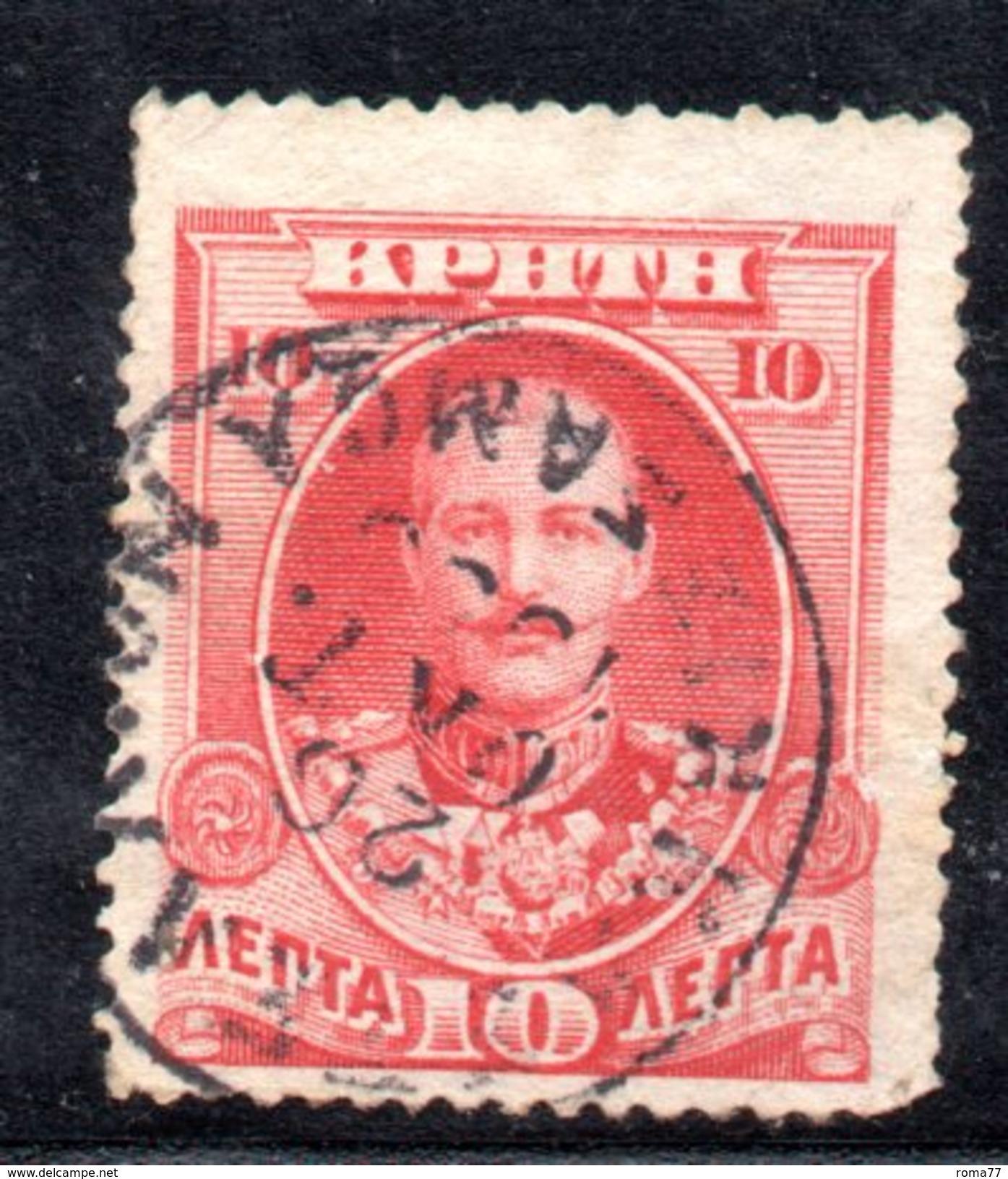 XP2891 - CRETA 1905, 10 Lepton Rosso N. 26 Usato - Creta