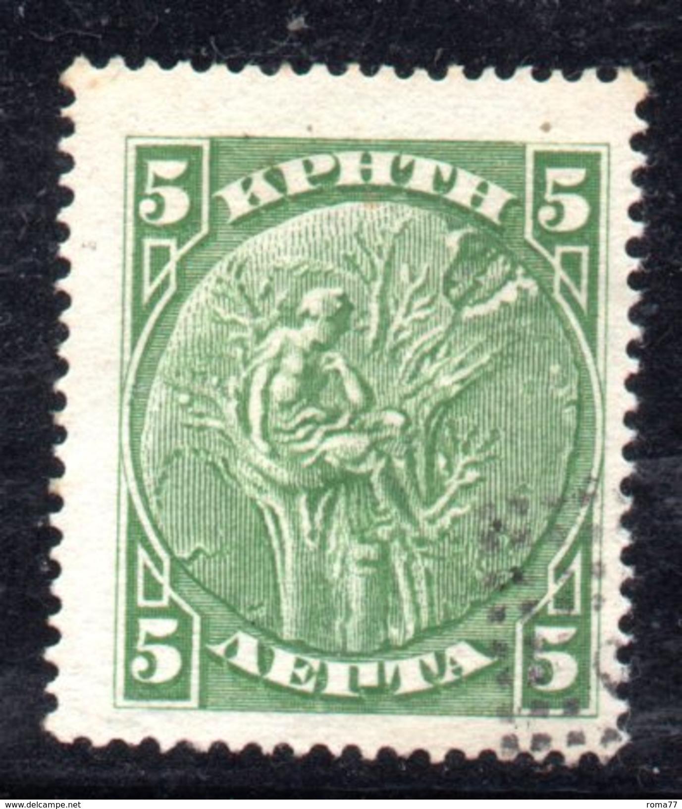 XP2913 - CRETA , 5  Lepta Verde  Usato - Creta