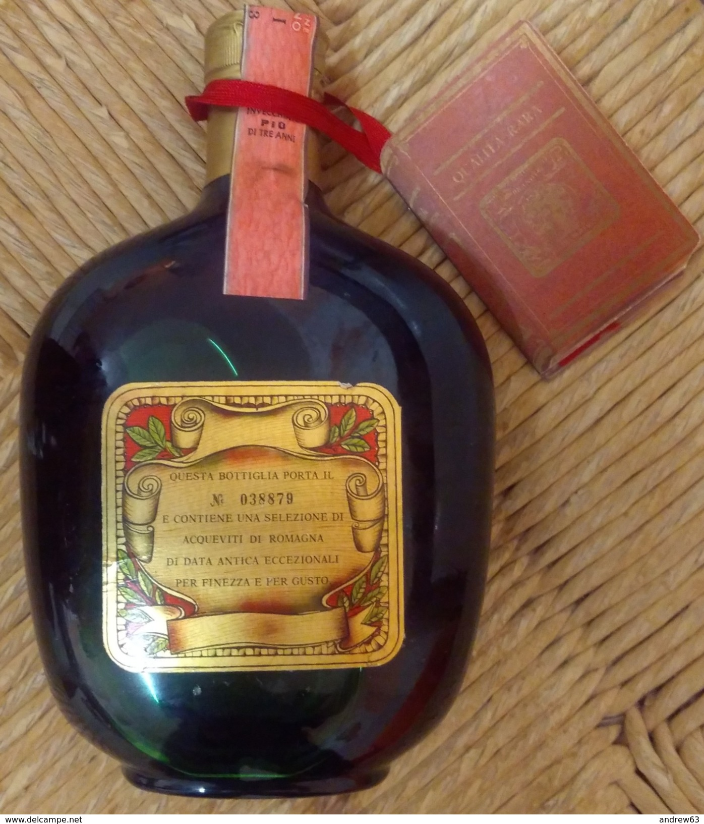 BRANDY VECCHIA ROMAGNA QUALITA' RARA GIO BUTON Lt. 0,750 Gr. 41° + BOX N° 38879 - Spirits