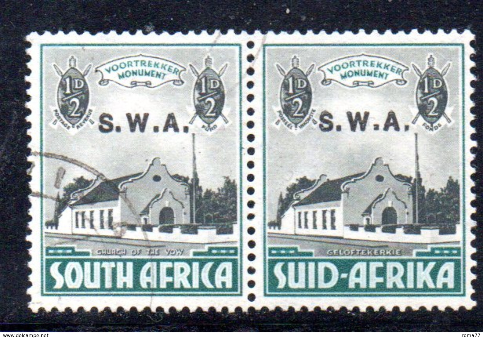 R459 - SOUTH WEST AFRICA  1935 ,  Yvert N. 130+134  Coppia Bilingue Usata - Africa Del Sud-Ovest (1923-1990)