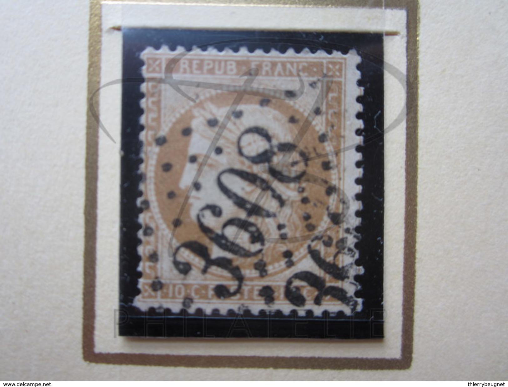VEND BEAU TIMBRE DE FRANCE N° 36 , BISTRE BRUN !!!! - 1870 Besetzung Von Paris