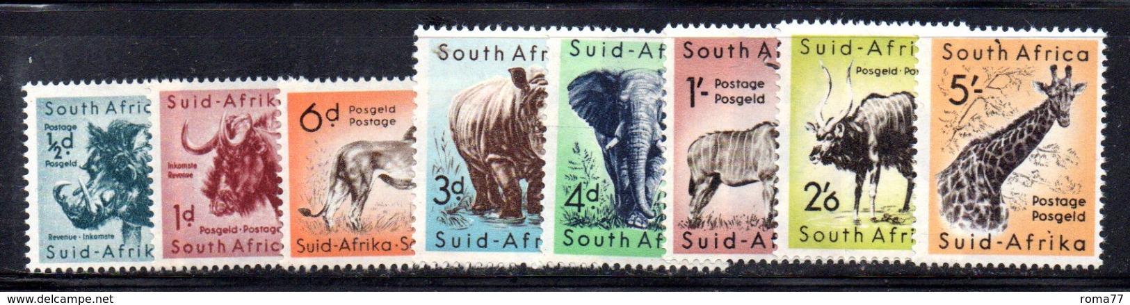 R578 - SUD AFRICA 1960 ,   Yvert Serie N. 221A/228    ***  ORDINARIA FAUNA - Sud Africa (...-1961)